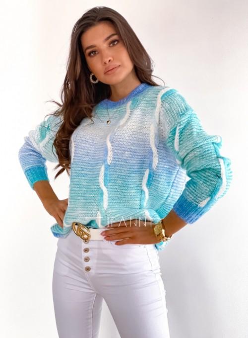 Sweter Lizi z warkoczem 2