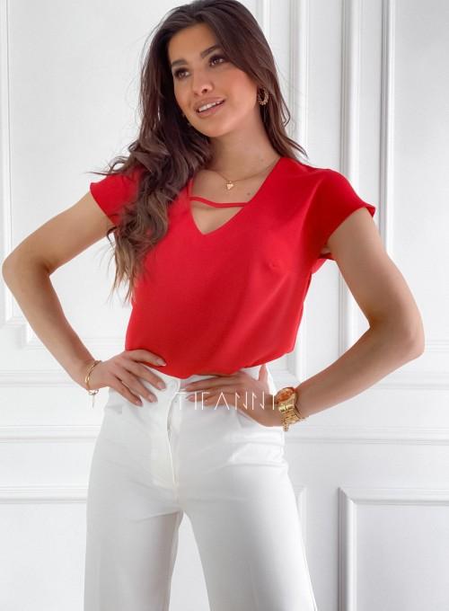 Bluzka Borowianka czrwona