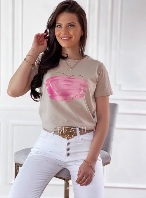 T-shirt Carmela beżowy 4