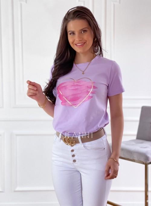 T-shirt Carmela lila 2
