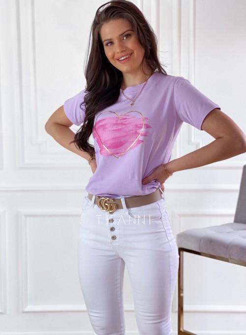 T-shirt Carmela lila 3