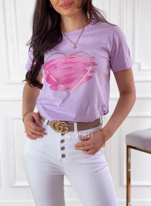 T-shirt Carmela lila 1