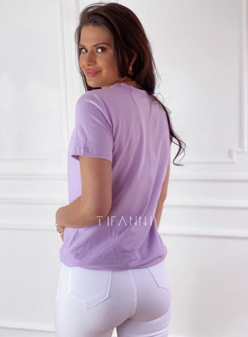T-shirt Carmela lila 4