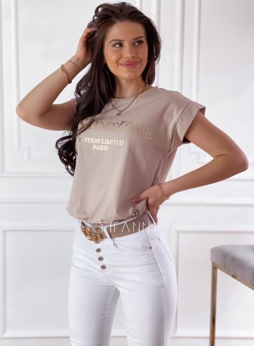 T-shirt Saint Love beżowy