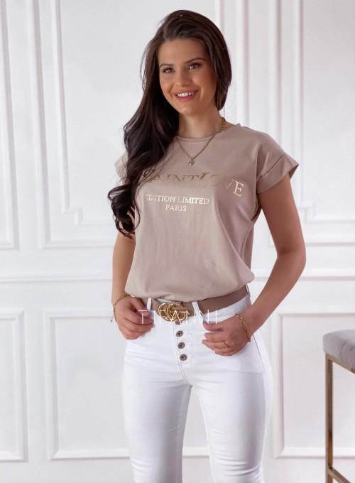 T-shirt Saint Love beżowy 2
