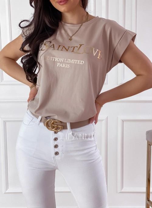 T-shirt Saint Love beżowy 1