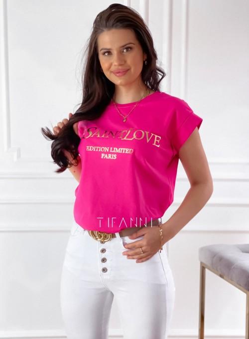T-shirt Saint Love fuksja