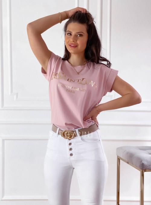 T-shirt Saint Love pudrowy 4