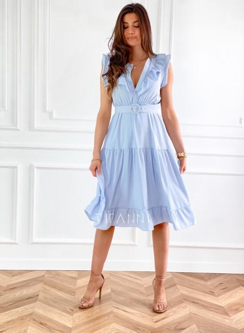 Sukienka Zaxi błękitna