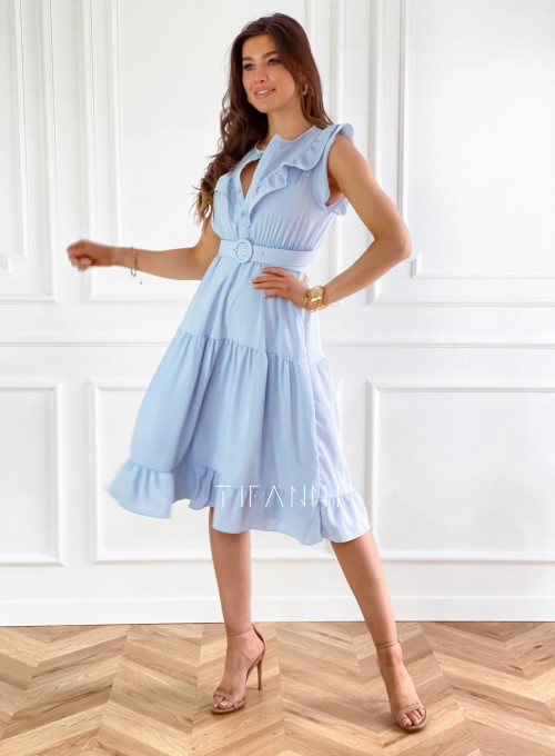Sukienka Zaxi błękitna 2