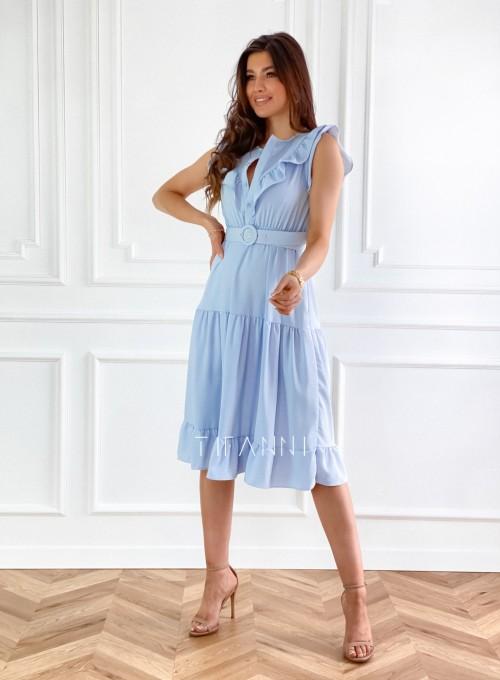 Sukienka Zaxi błękitna 4
