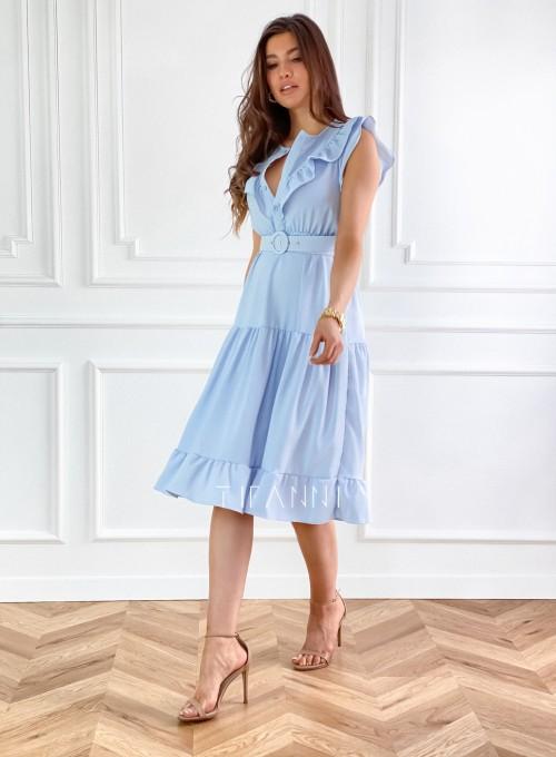 Sukienka Zaxi błękitna 5
