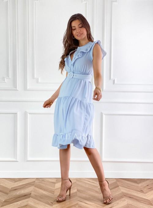 Sukienka Zaxi błękitna 6