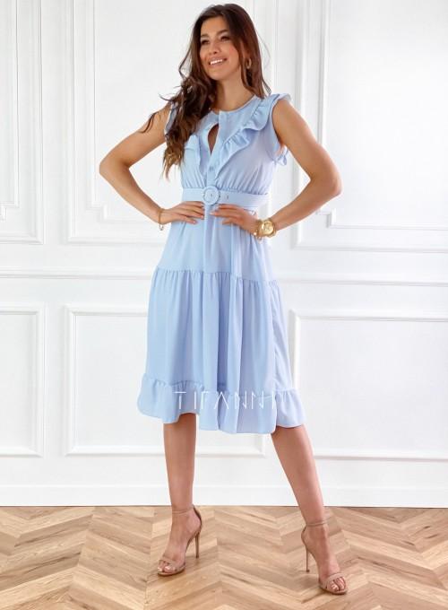 Sukienka Zaxi błękitna 7