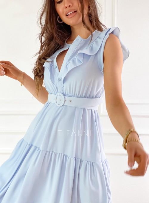 Sukienka Zaxi błękitna 1