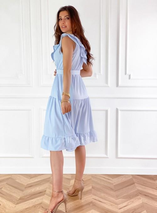 Sukienka Zaxi błękitna 3
