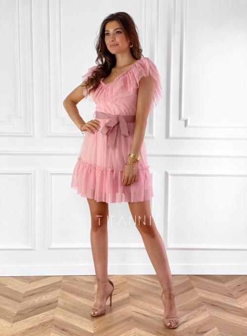 Zwiewna sukienka z żabotem Milly 3