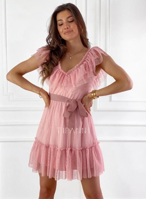 Zwiewna sukienka z żabotem Milly 2