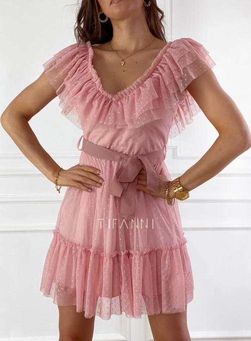 Zwiewna sukienka z żabotem Milly 1