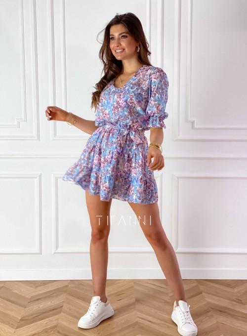Sukienka Ammy w pastelowych kolorach 2