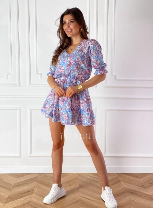 Sukienka Ammy w pastelowych kolorach 4