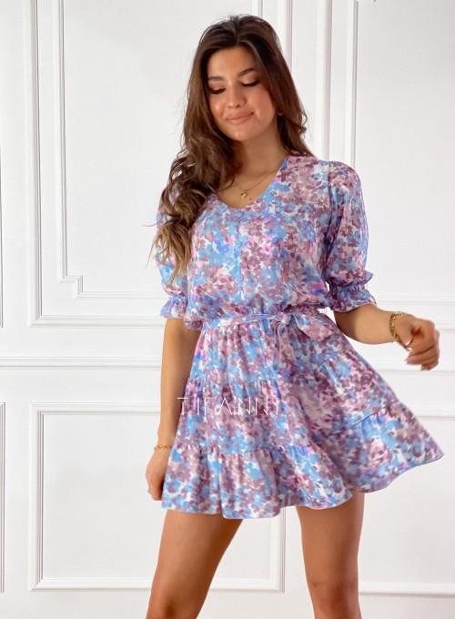 Sukienka Ammy w pastelowych kolorach 3