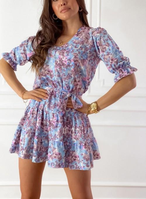 Sukienka Ammy w pastelowych kolorach 1