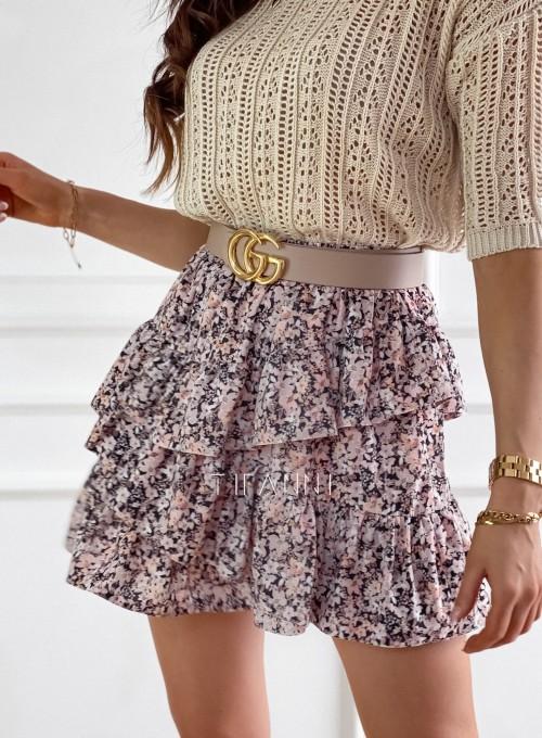Spódnica mini w kwiatki