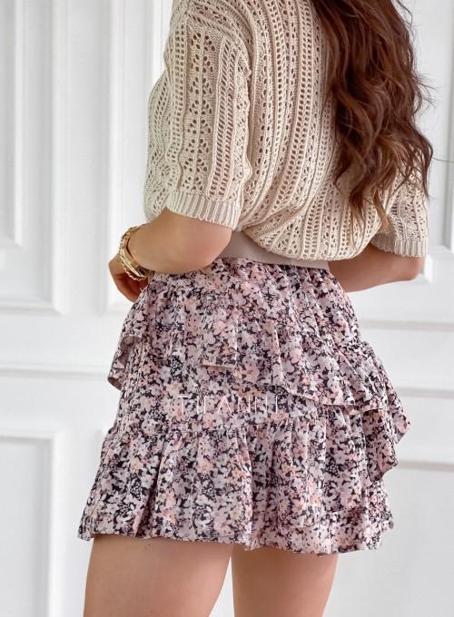 Spódnica mini w kwiatki 4
