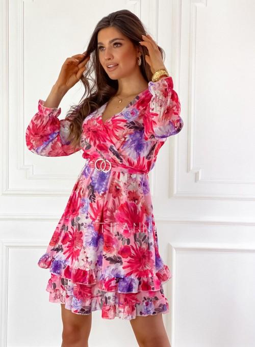 Szyfonowa kwiecista sukienka