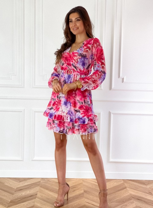 Szyfonowa kwiecista sukienka 4