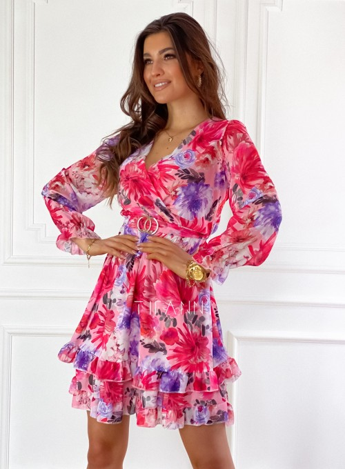Szyfonowa kwiecista sukienka 5
