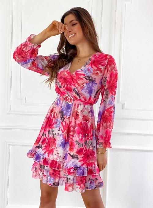 Szyfonowa kwiecista sukienka 6