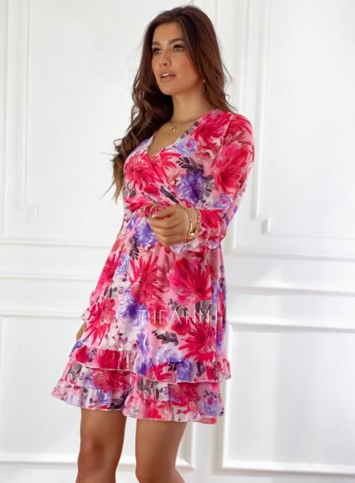 Szyfonowa kwiecista sukienka 3