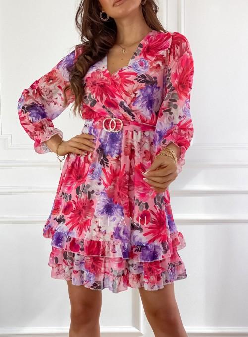 Szyfonowa kwiecista sukienka 1