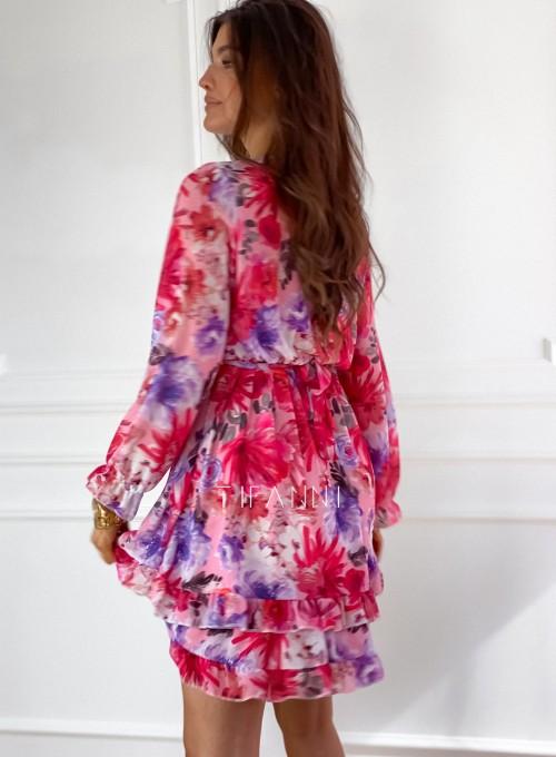 Szyfonowa kwiecista sukienka 7