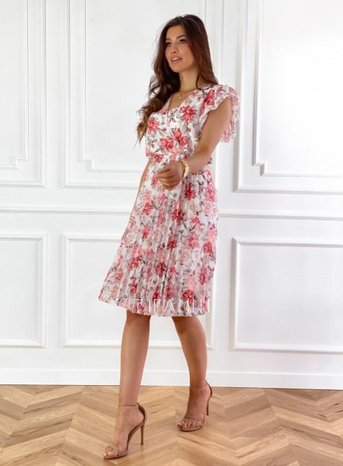 Plisowana kwiatowa sukienka Auris 4