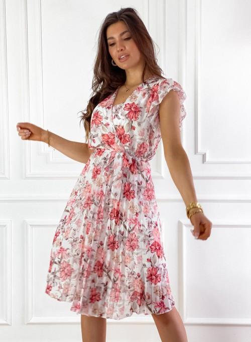 Plisowana kwiatowa sukienka Auris 5