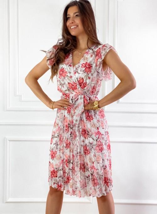 Plisowana kwiatowa sukienka Auris 3