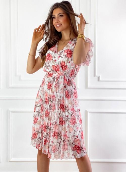 Plisowana kwiatowa sukienka Auris 6