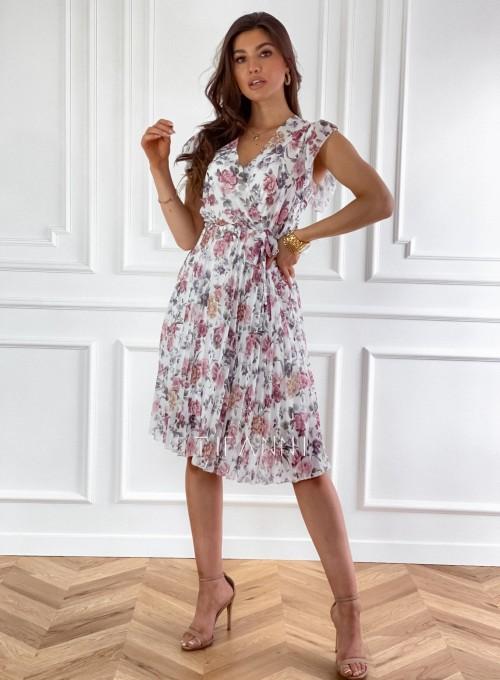 Plisowana kwiatowa sukienka Auris II