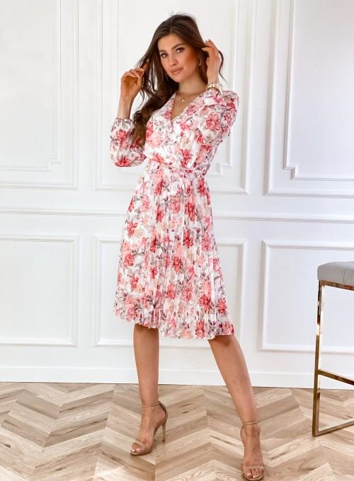 Sukienka z plisowanym odcinanym dołem 4
