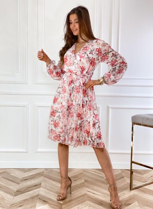 Sukienka z plisowanym odcinanym dołem 3