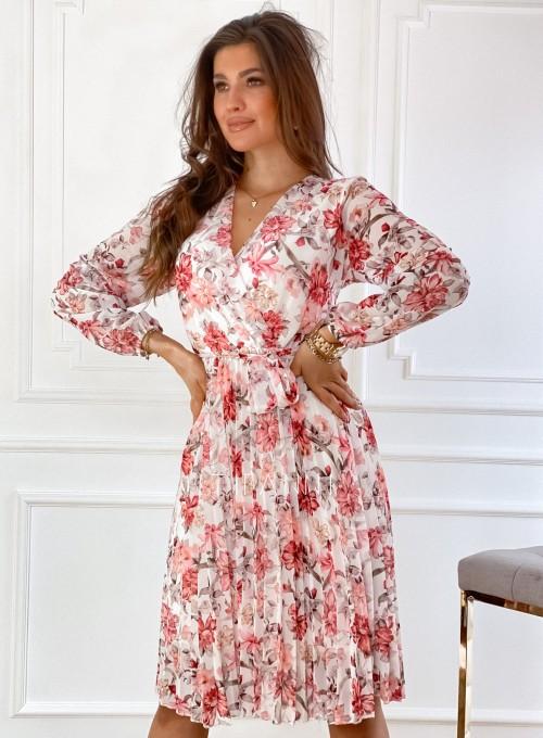 Sukienka z plisowanym odcinanym dołem 5