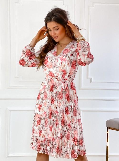Sukienka z plisowanym odcinanym dołem 1
