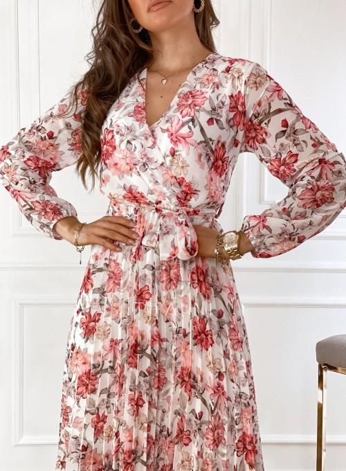 Sukienka z plisowanym odcinanym dołem 2