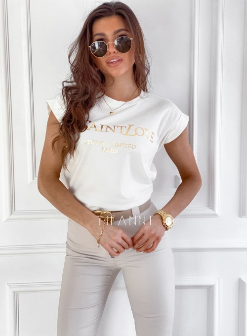 T-shirt Saint Love śmietankowy