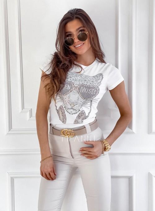 T-shirt Tiger biały