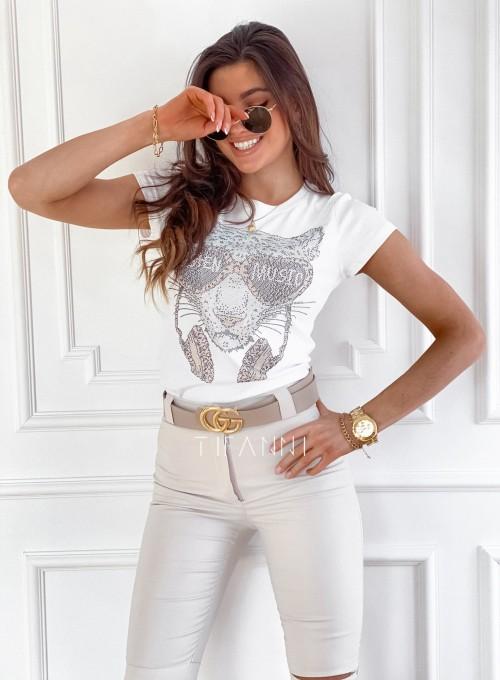 T-shirt Tiger biały 3