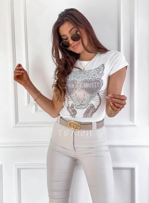 T-shirt Tiger biały 4